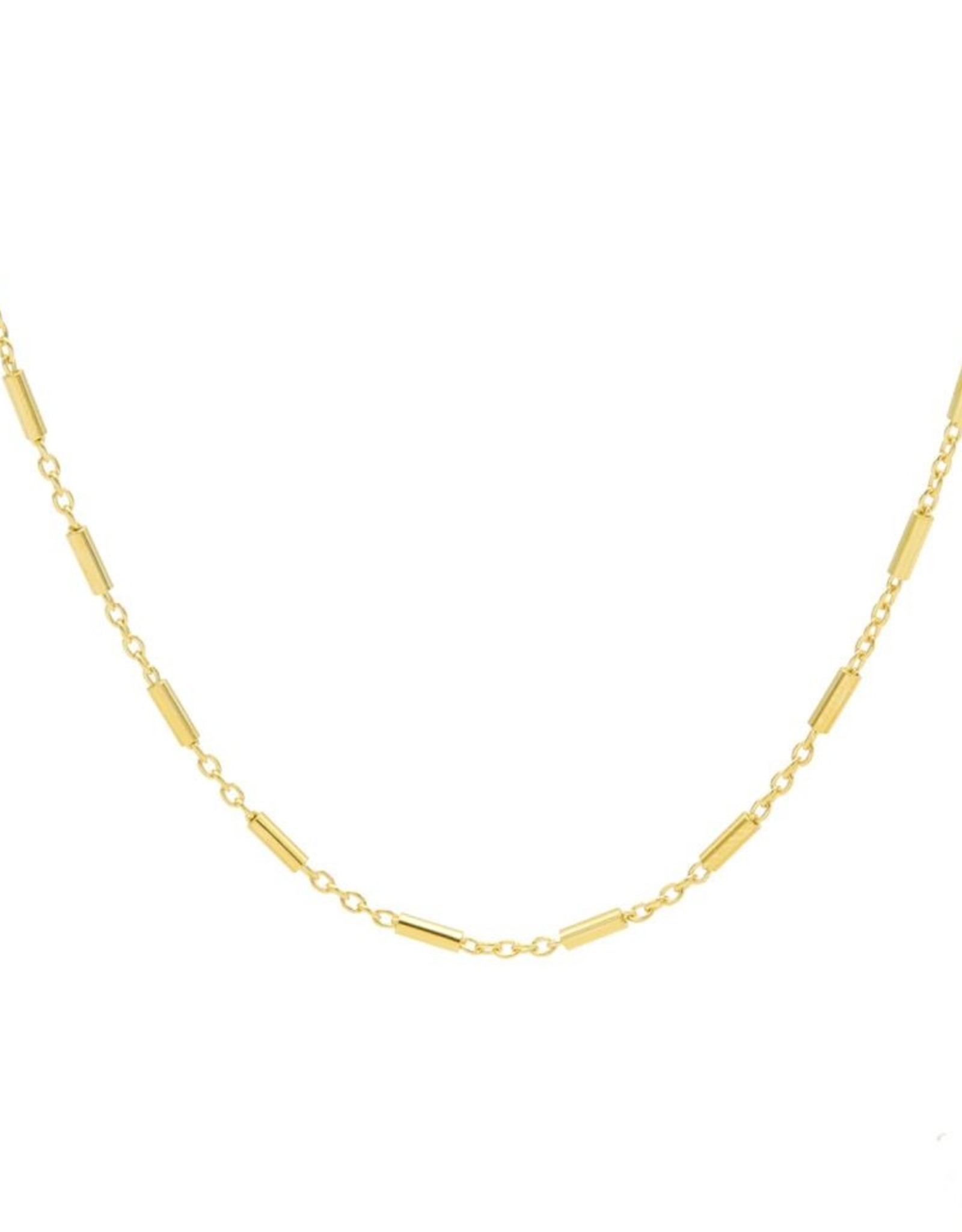 Karma Necklace Tubes Goldplated 50-57CM