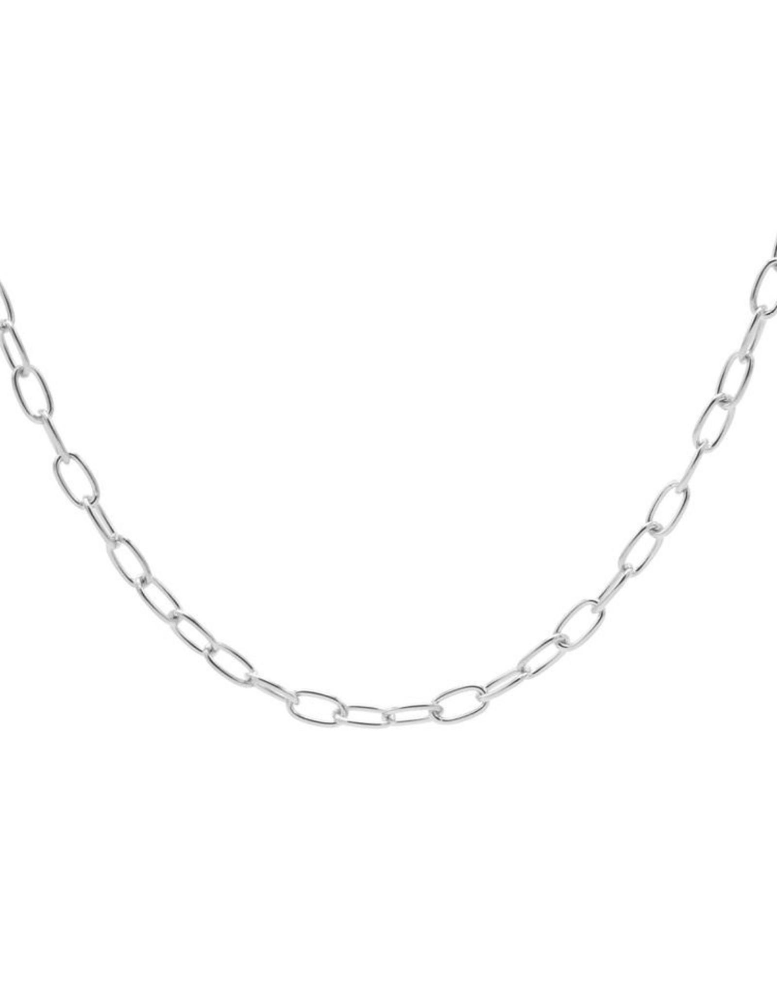 Karma Necklace Square Chain Silver 50-57CM