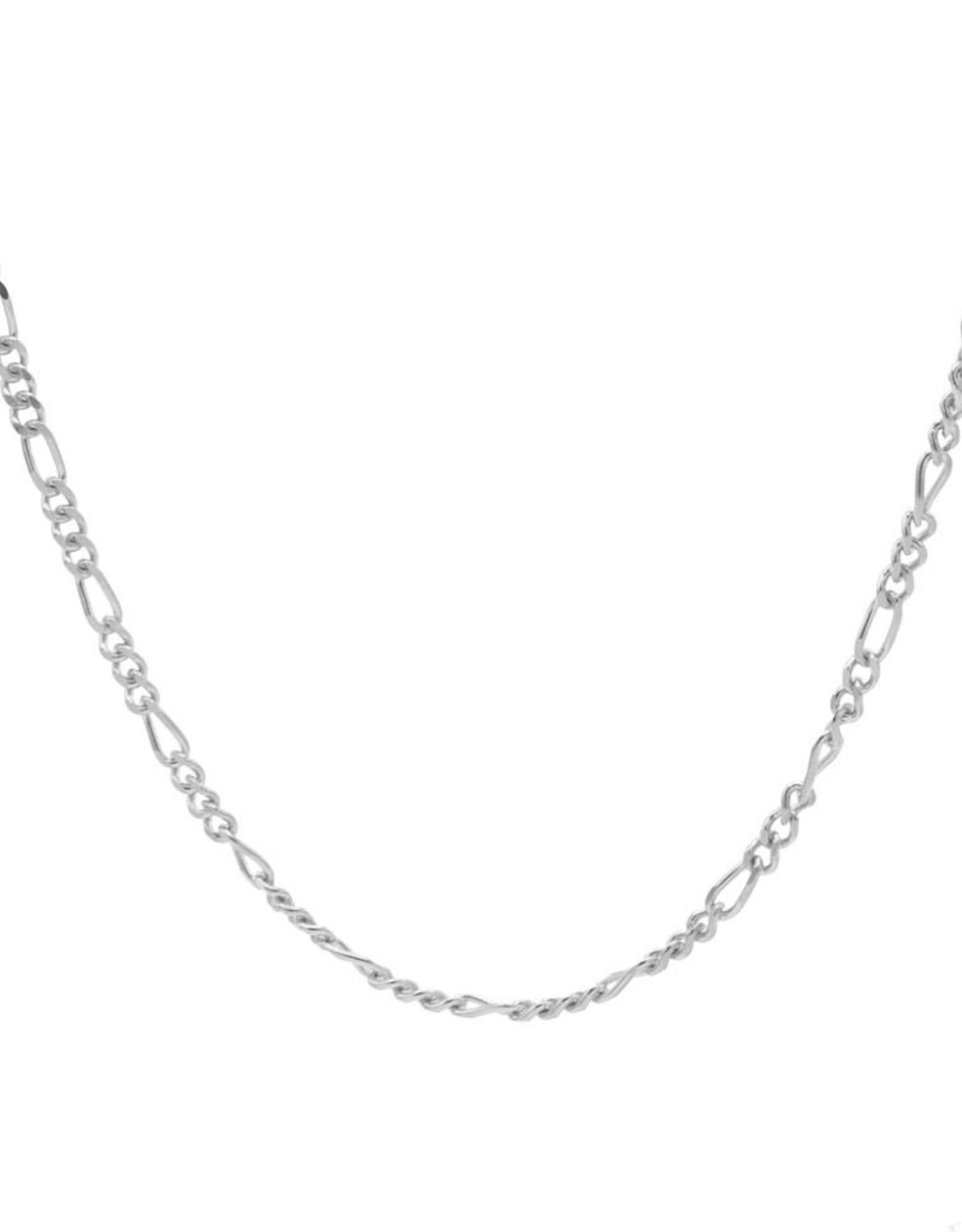 Karma Necklace Figaro Silver 50-57CM