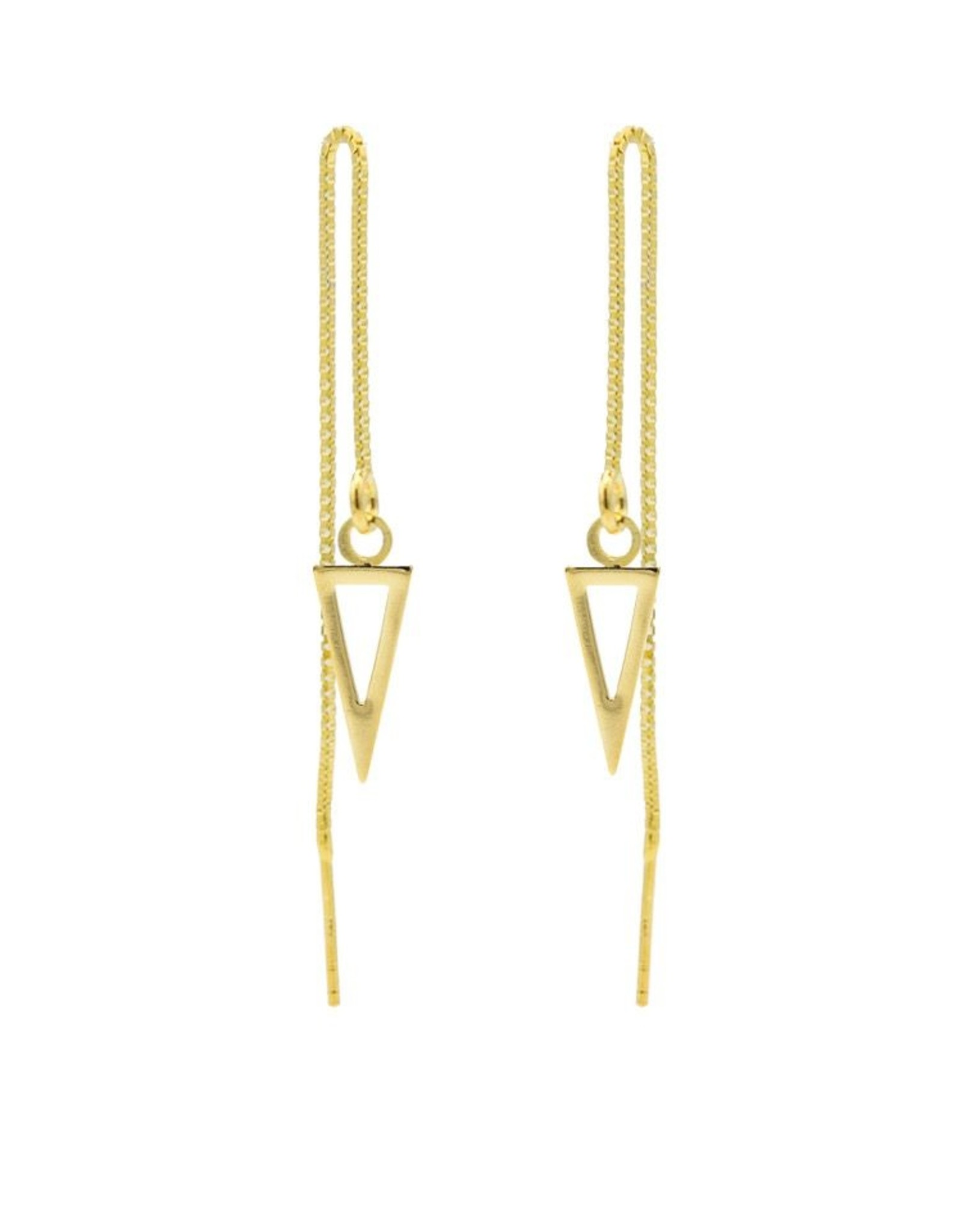 Karma Pull Through Open Triangle Goldplated Set