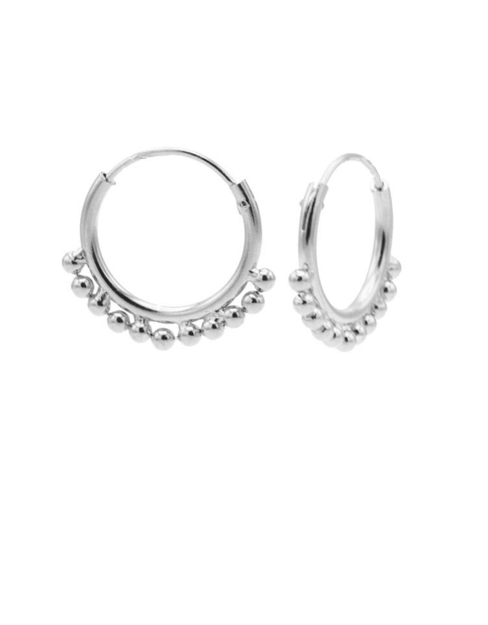 Karma Hoops Symbols Solid Dots Row Silver Set