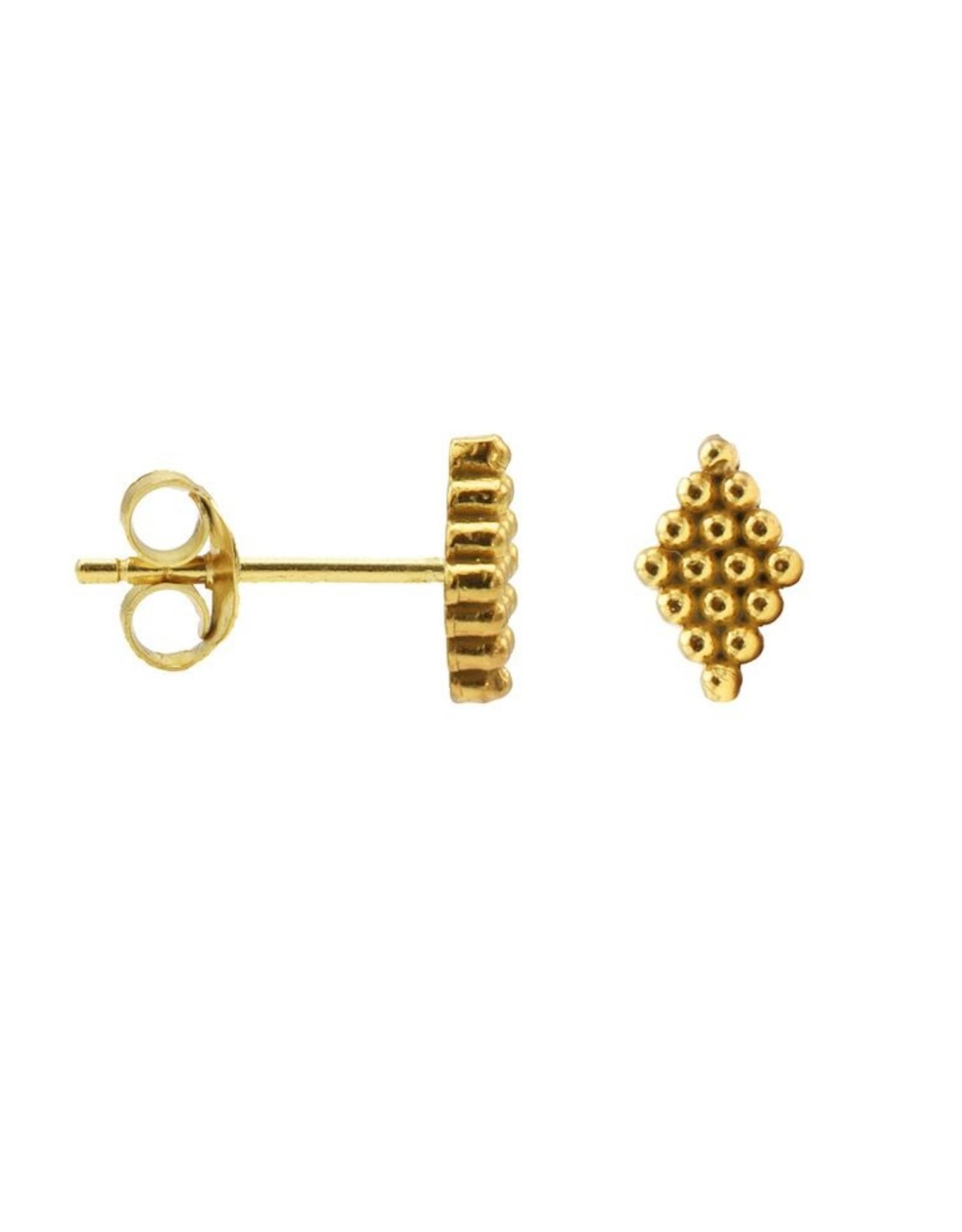 Karma Hanging Symbols Dots Diamond Goldplated Set