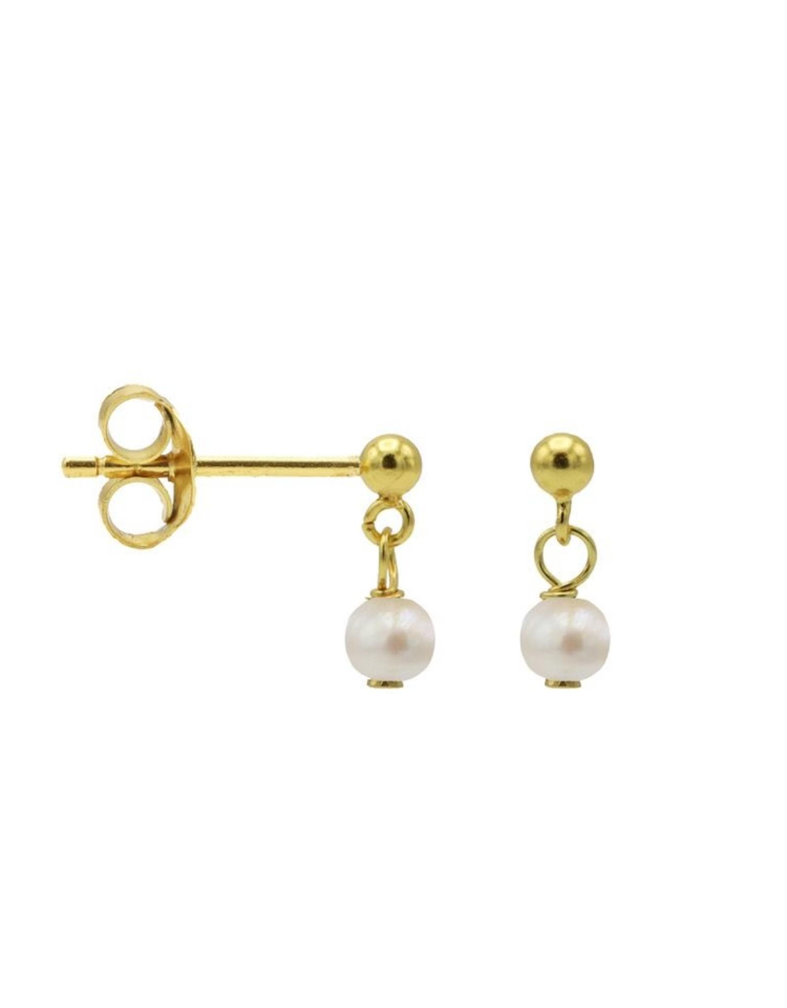 Karma Hanging Symbols Dot Pearl Goldplated Set