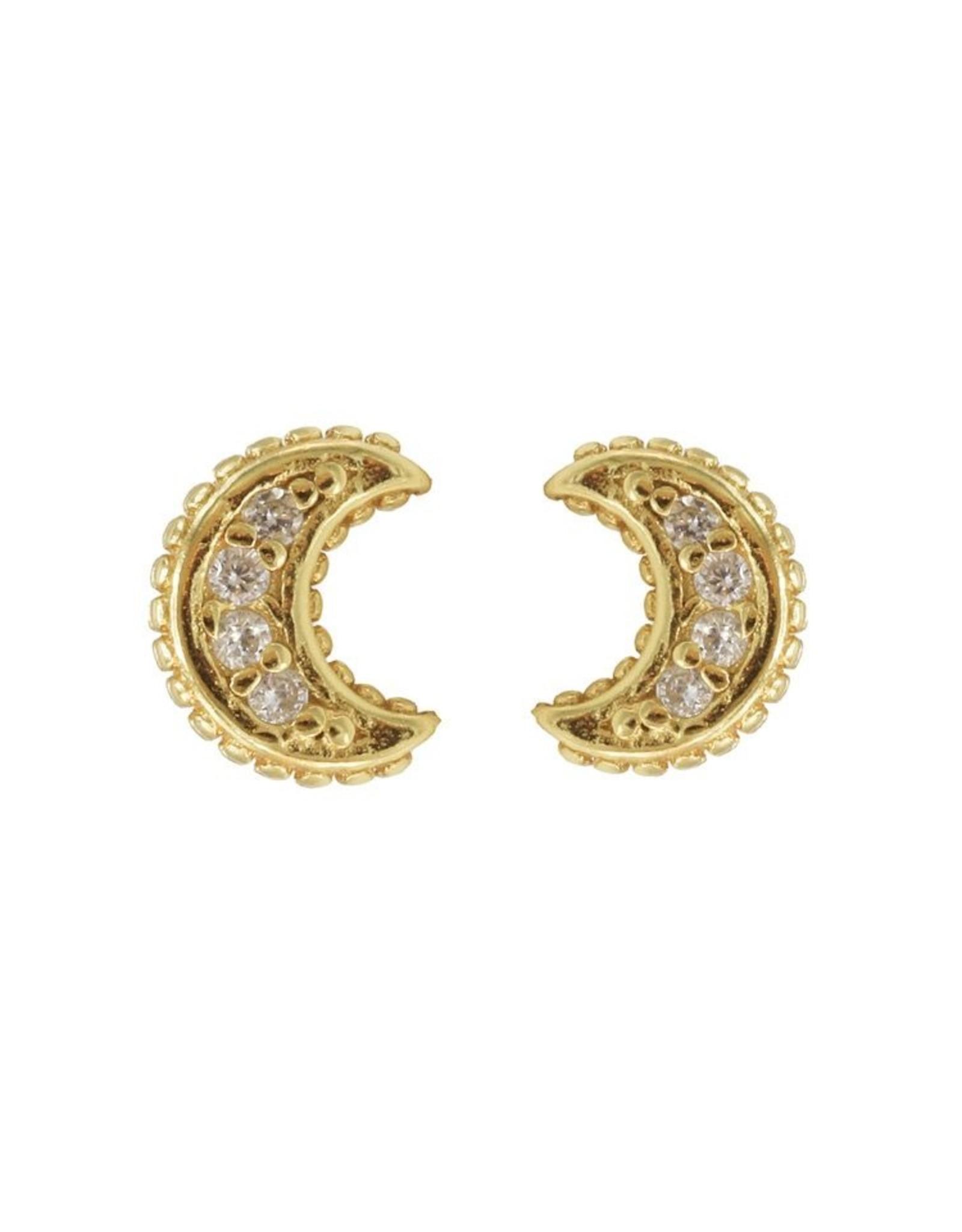 Karma Karma Zirconia Symbols Moon Goldplated Set