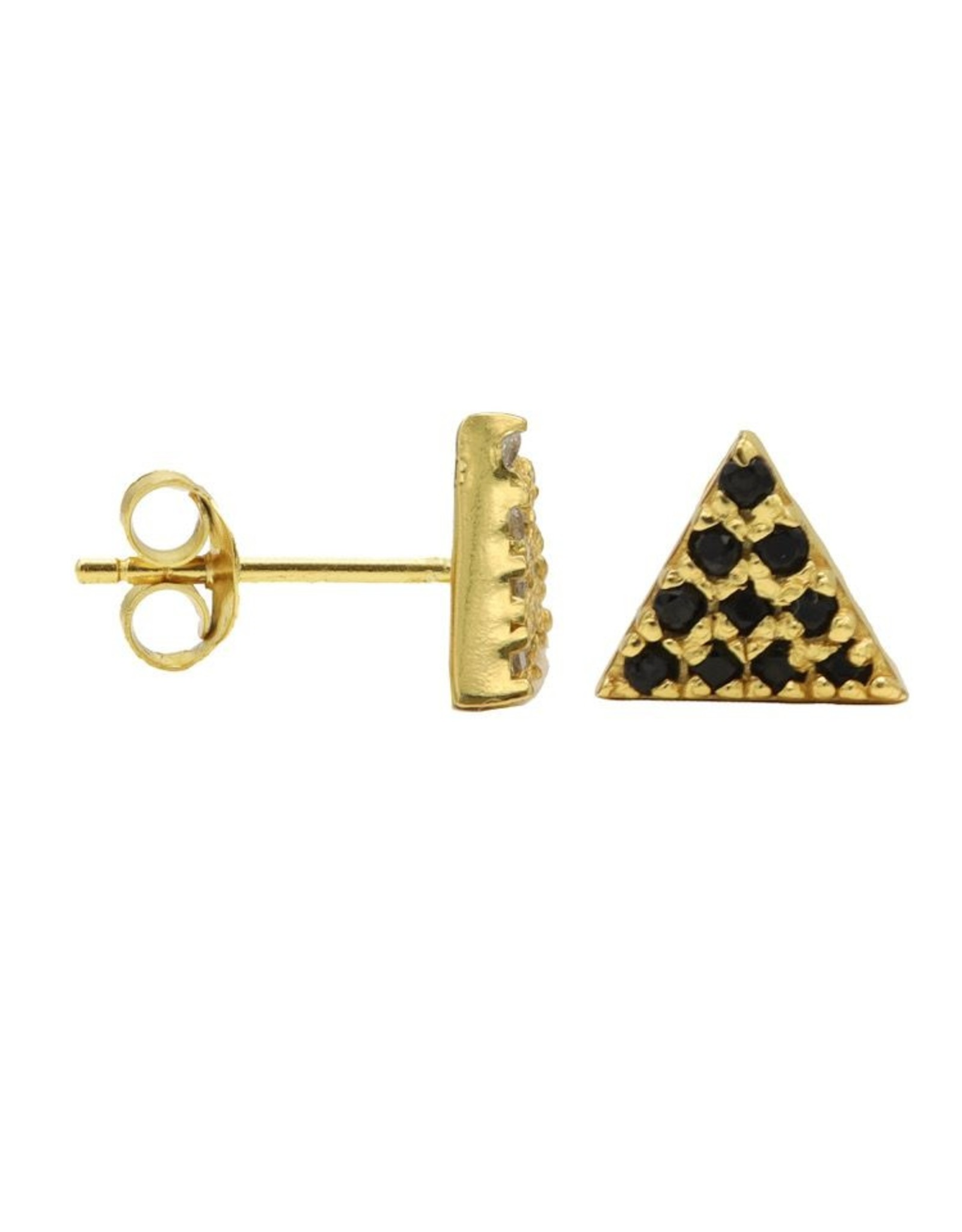 Karma Karma Black Zirconia Symbols Triangle 2 Goldplated Set