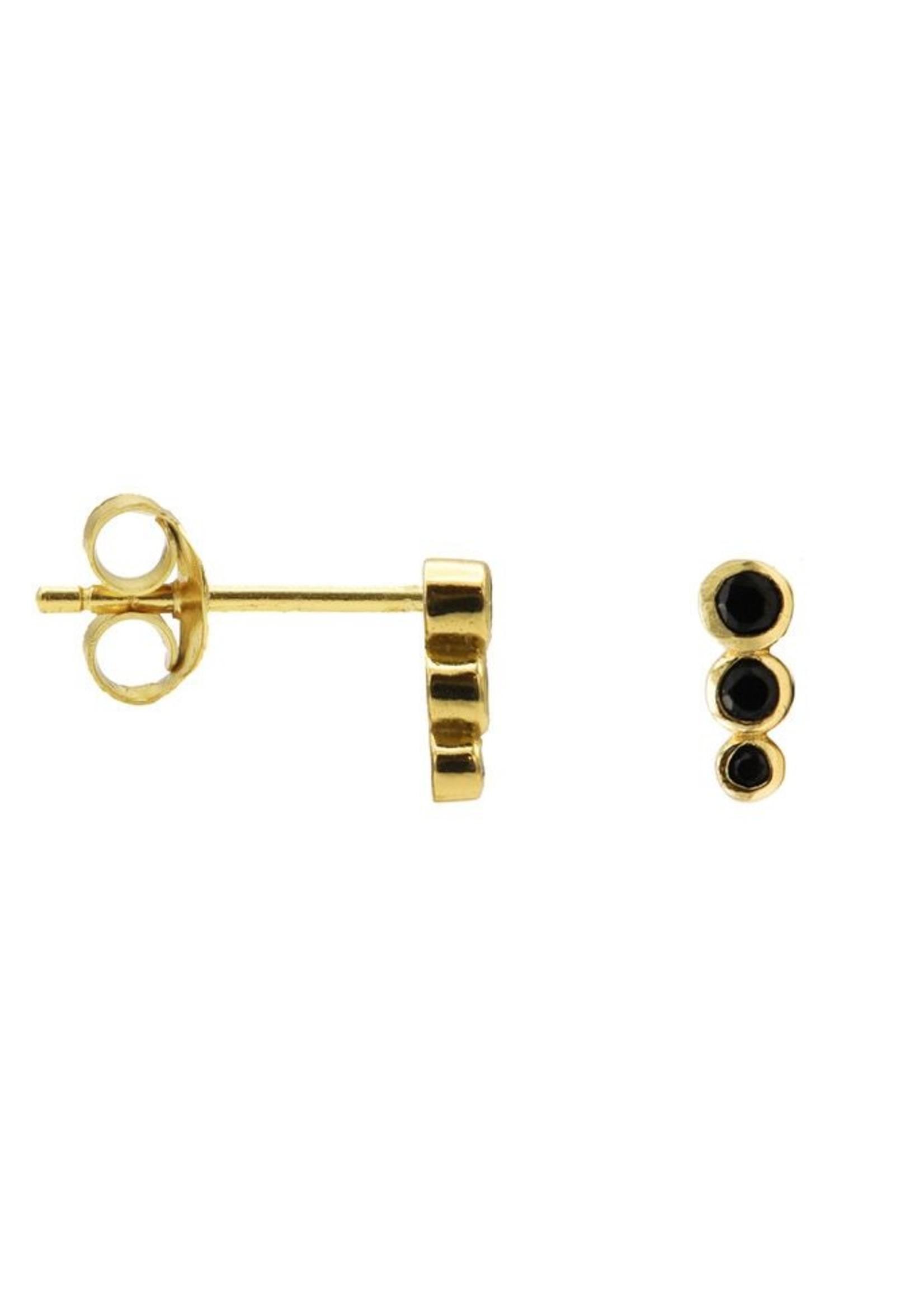 Karma Karma Black Zirconia Symbols Dotty Row Goldplated Set