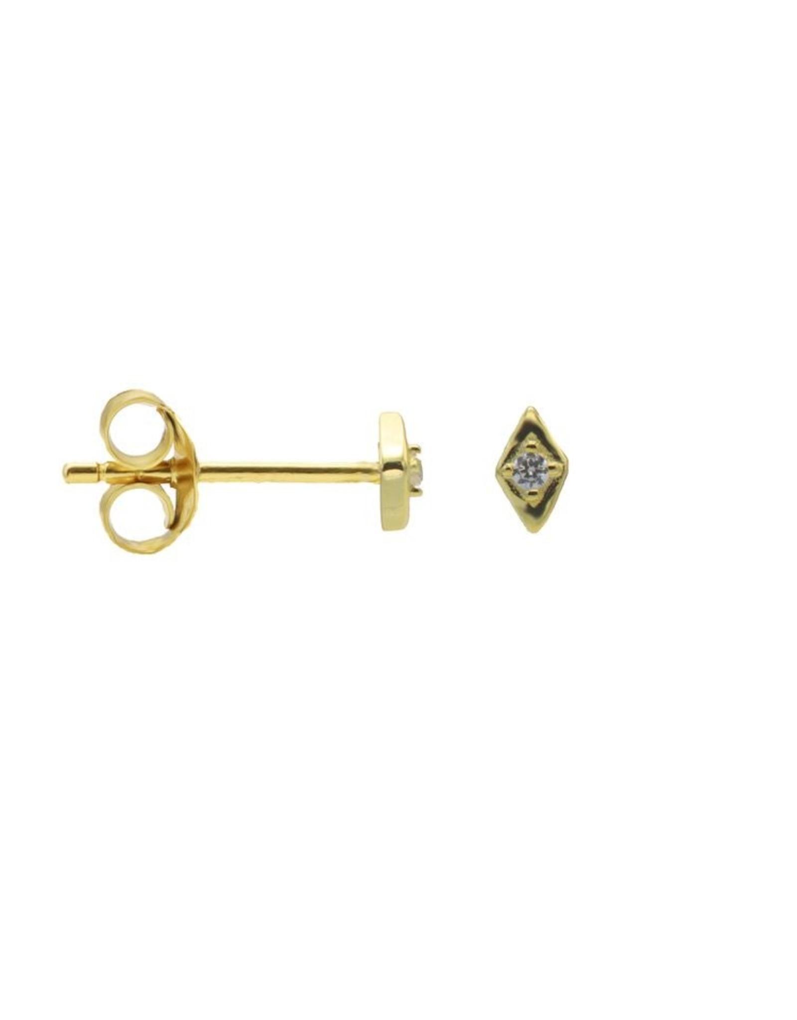 Karma Karma Zirconia Symbols Single Diamond Goldplated  Set