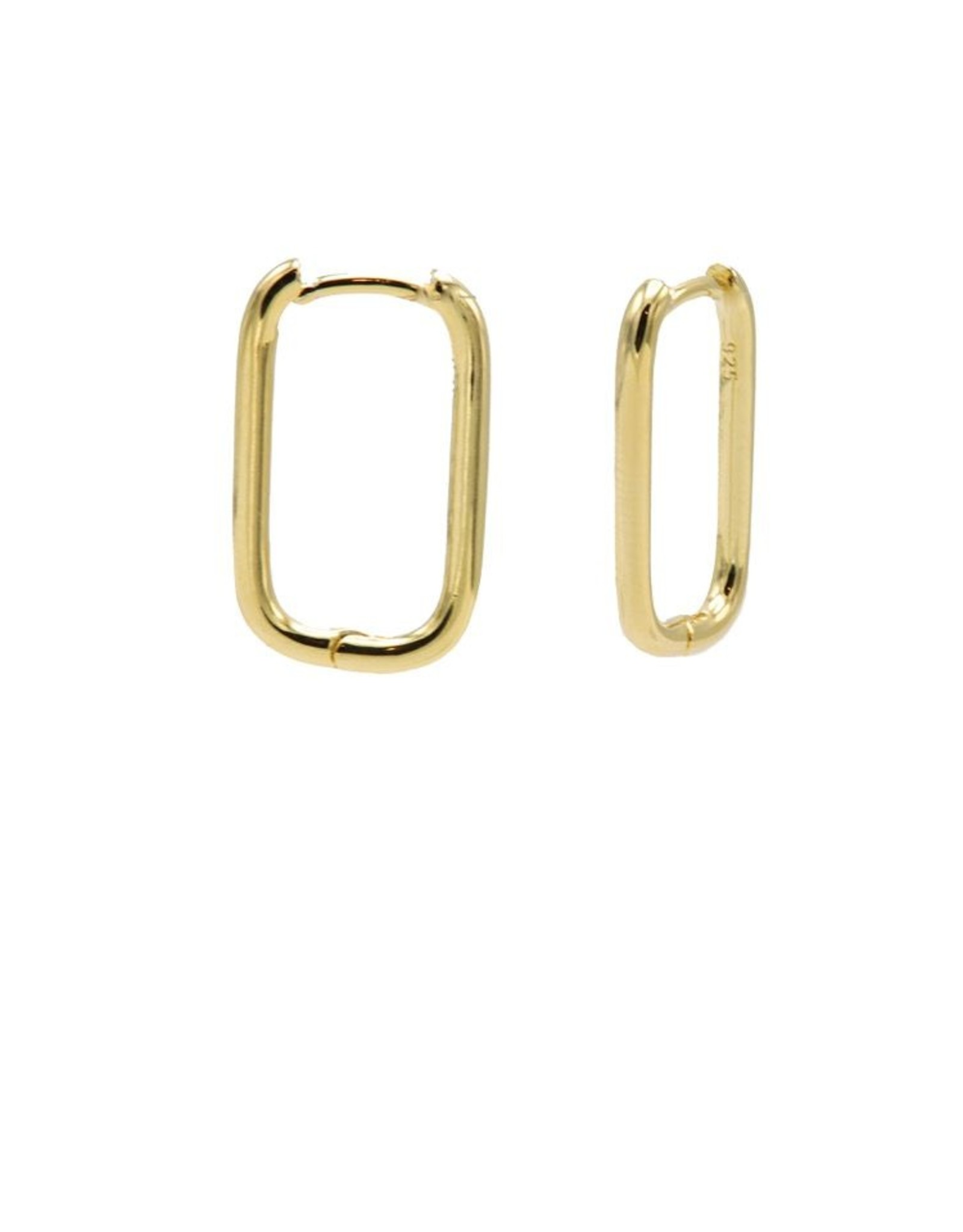 Karma Plain Hinged Hoops Round Square Goldplated 20MM Set