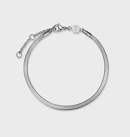 Cluse Essentielle Snake Bracelet Silver Colour