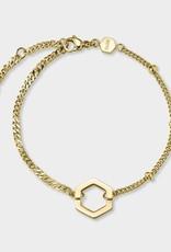 Cluse Essentielle Open Mix Chain Bracelet Gold Colour