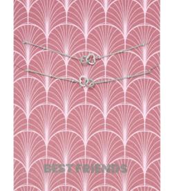 Bracelet Card Best Friends Silver