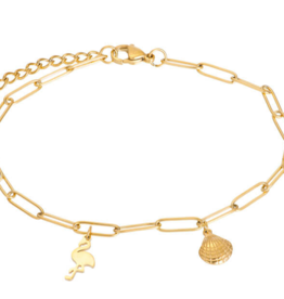 ankle with charms 23+4 gold