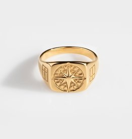 Northern Legacy Compass Signature- Gold Tone Maat 21