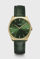 Cluse Féroce Leather Forest Green, Gold Colour