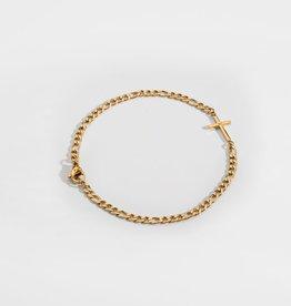 Northern Legacy NL Antique Cross Bracelet - Gold Tone M 20cm