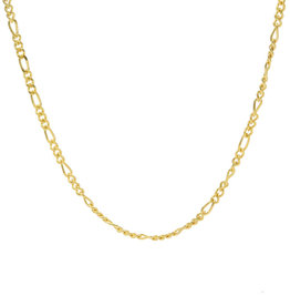 Karma Necklace Figaro Goldplated