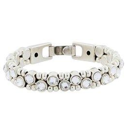 Josh Armband Dames 04386-bra s/crystals/s+1