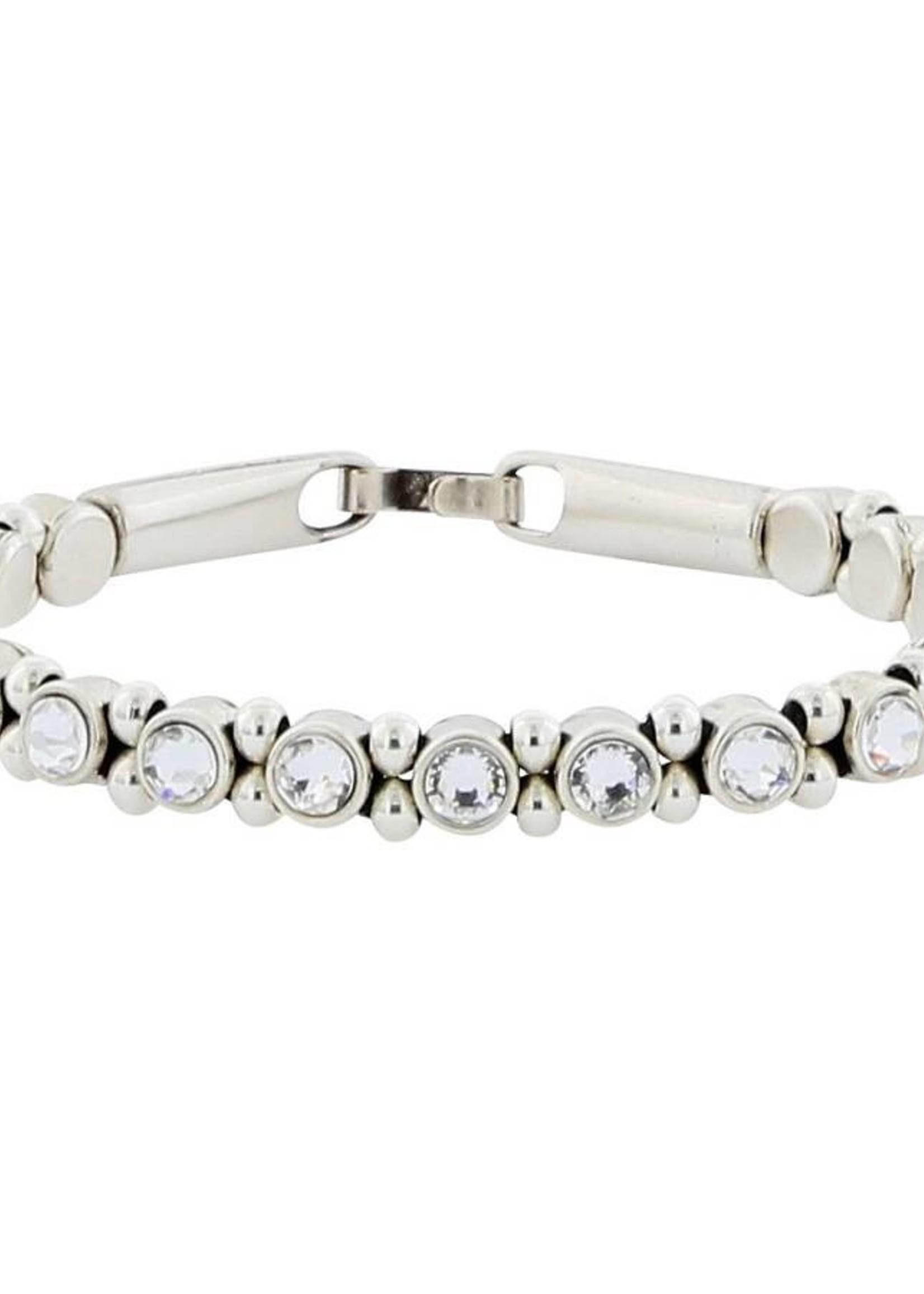 Josh Armband Dames 22119-bra s/crystals/s