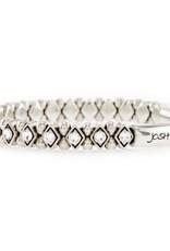 Josh Armband Dames 22182-bra s/crystals/s