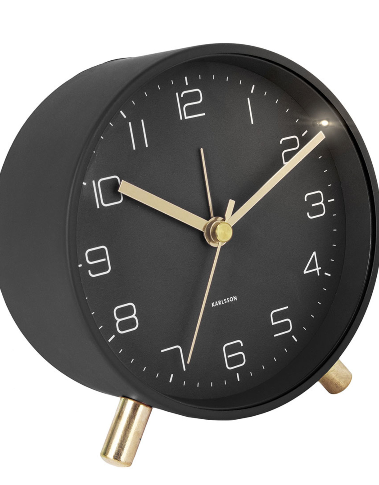 clock alarm lofty metal black