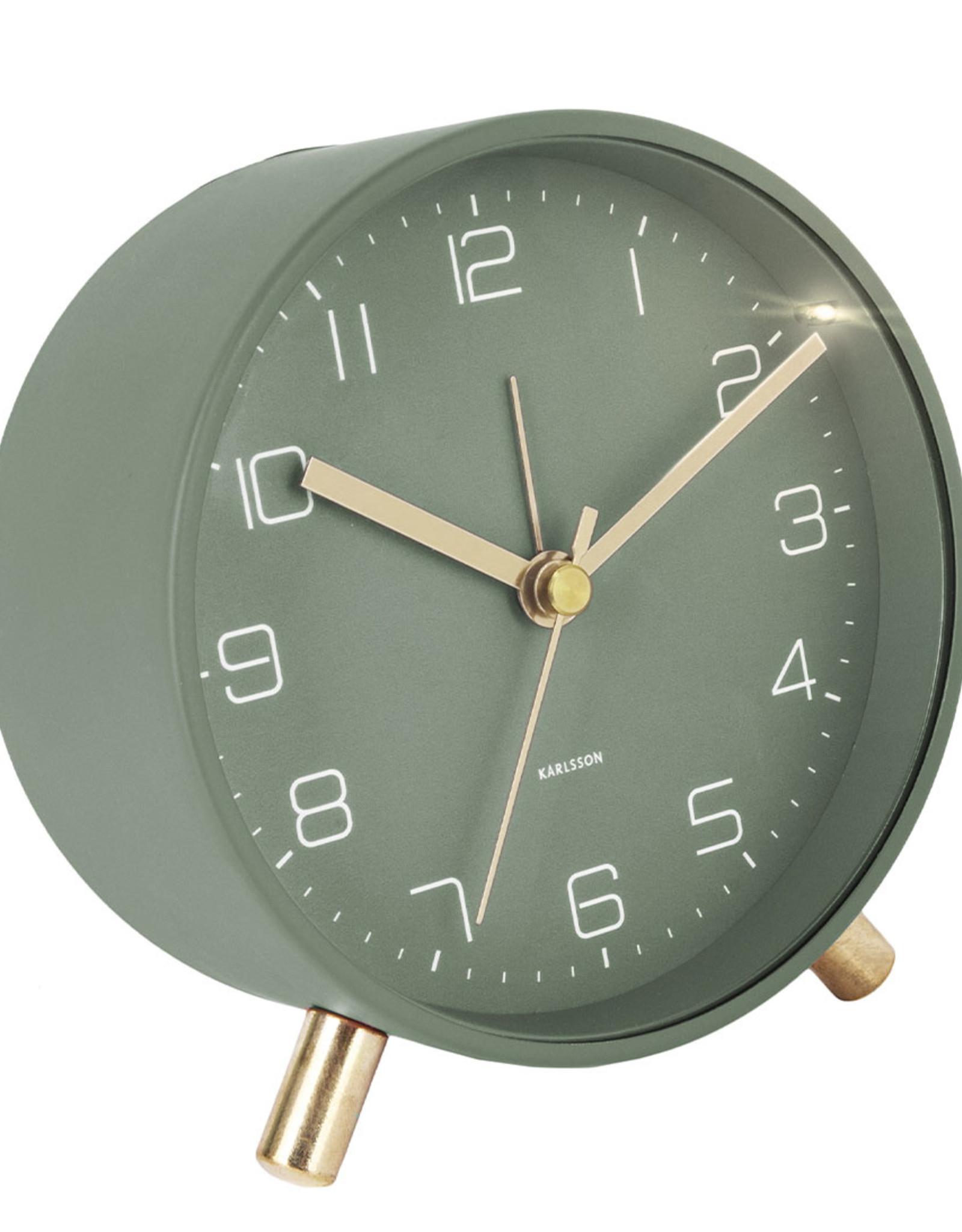alarm clock lofty metal green