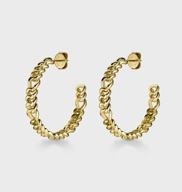 Cluse Essentielle Figaro Hoop Earrings Gold Colour