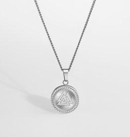 Northern Legacy Nl Valknut Signature Pendant - Silver Tone