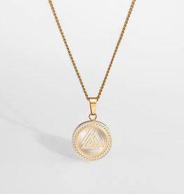 Northern Legacy Nl Valknut Signature Pendant - Gold Tone