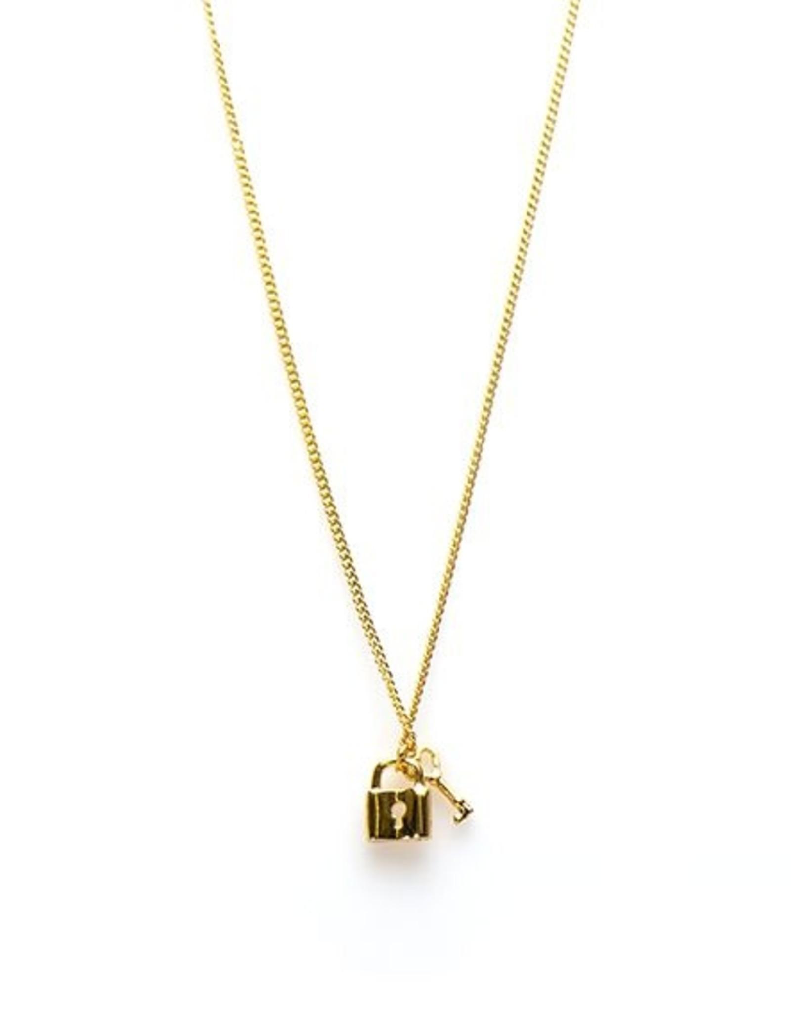 Karma Necklace Key Lock Gold