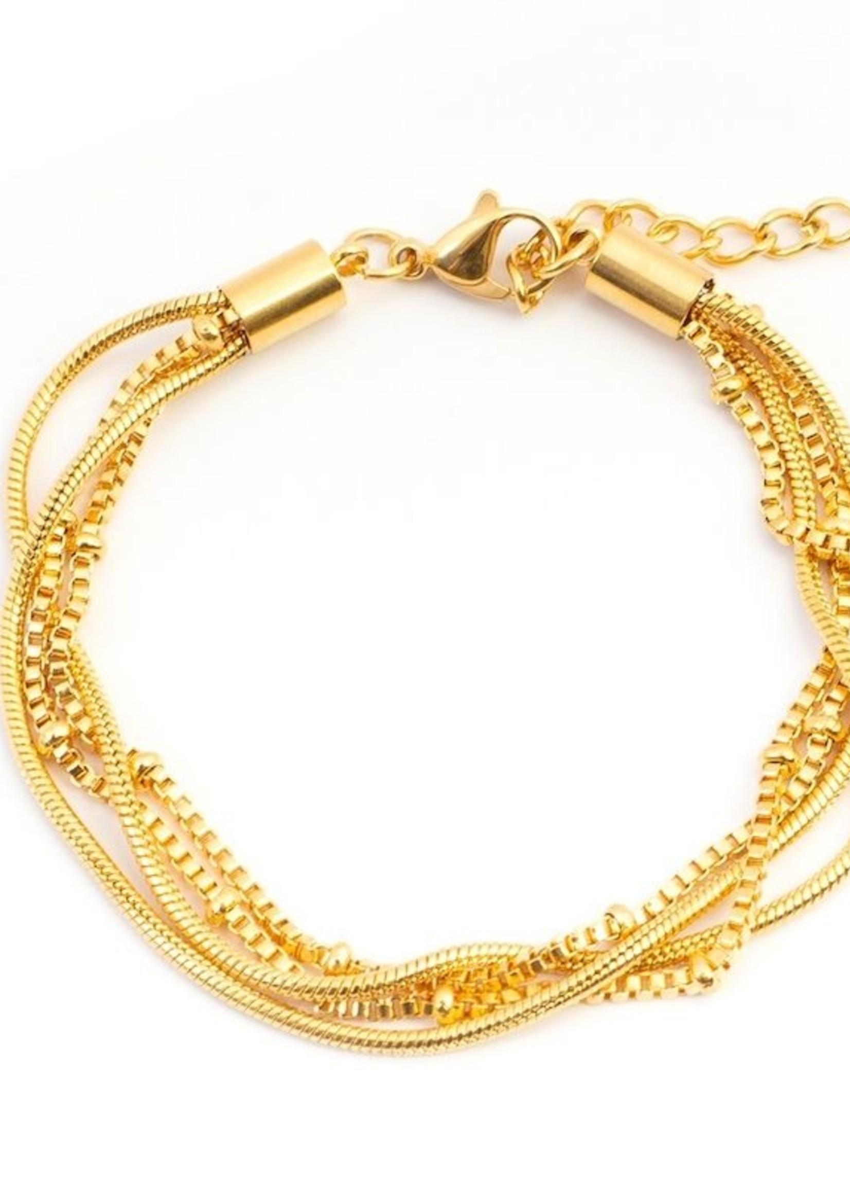 Snake Knot Gold Color