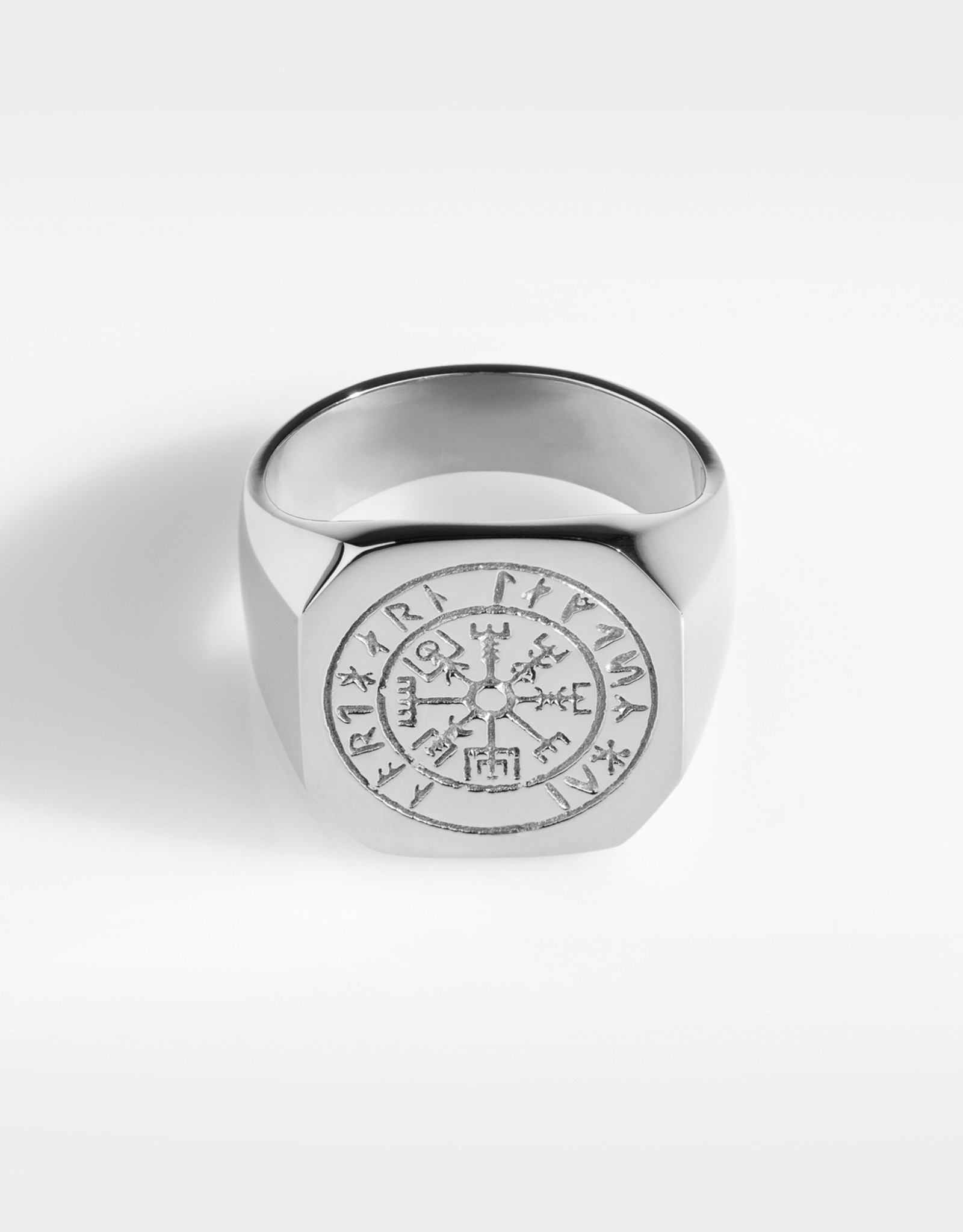 Northern Legacy vegvisir oversize signature- silver tone ring maat 20
