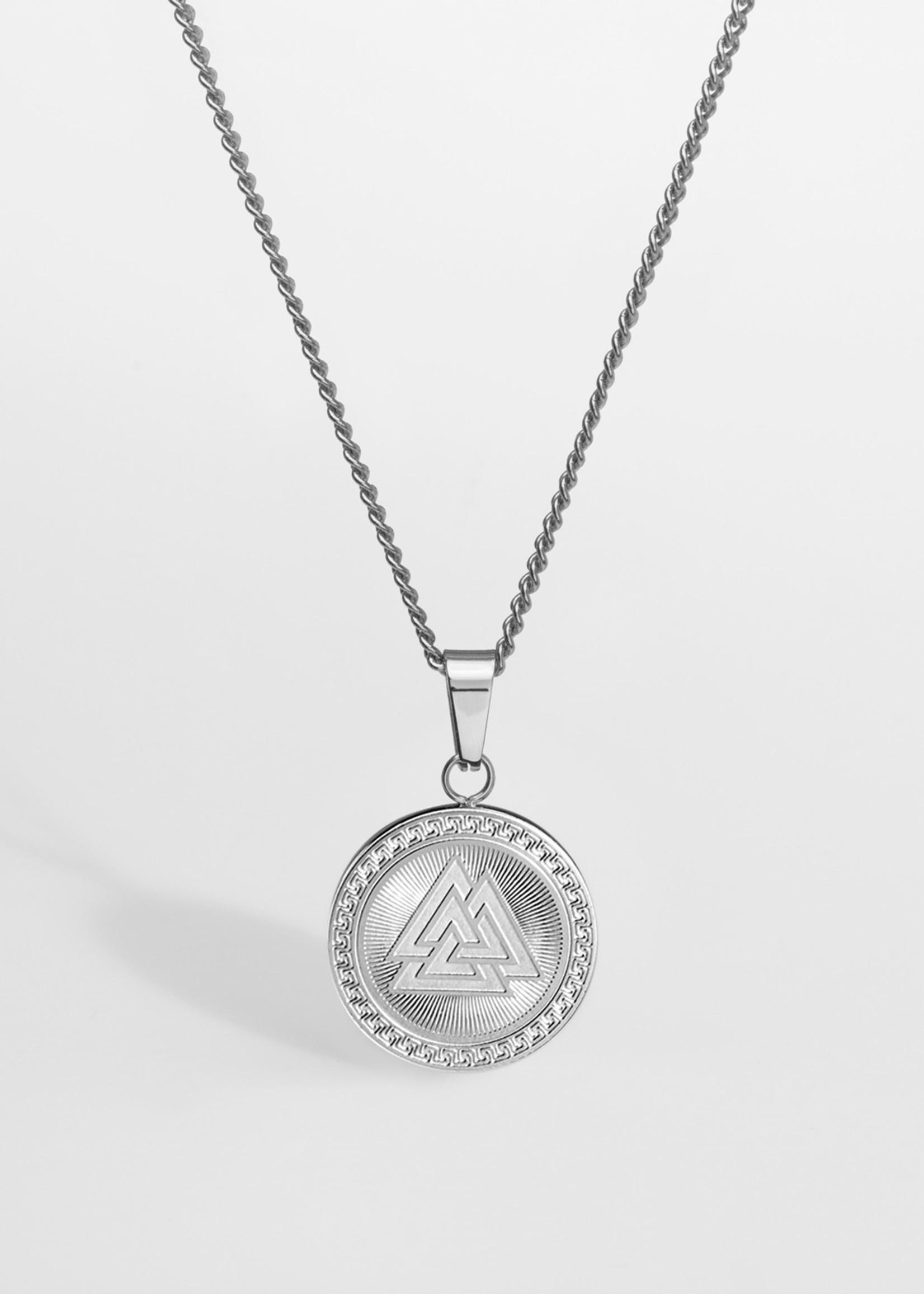 Northern Legacy nl valknut pendant-silver tone