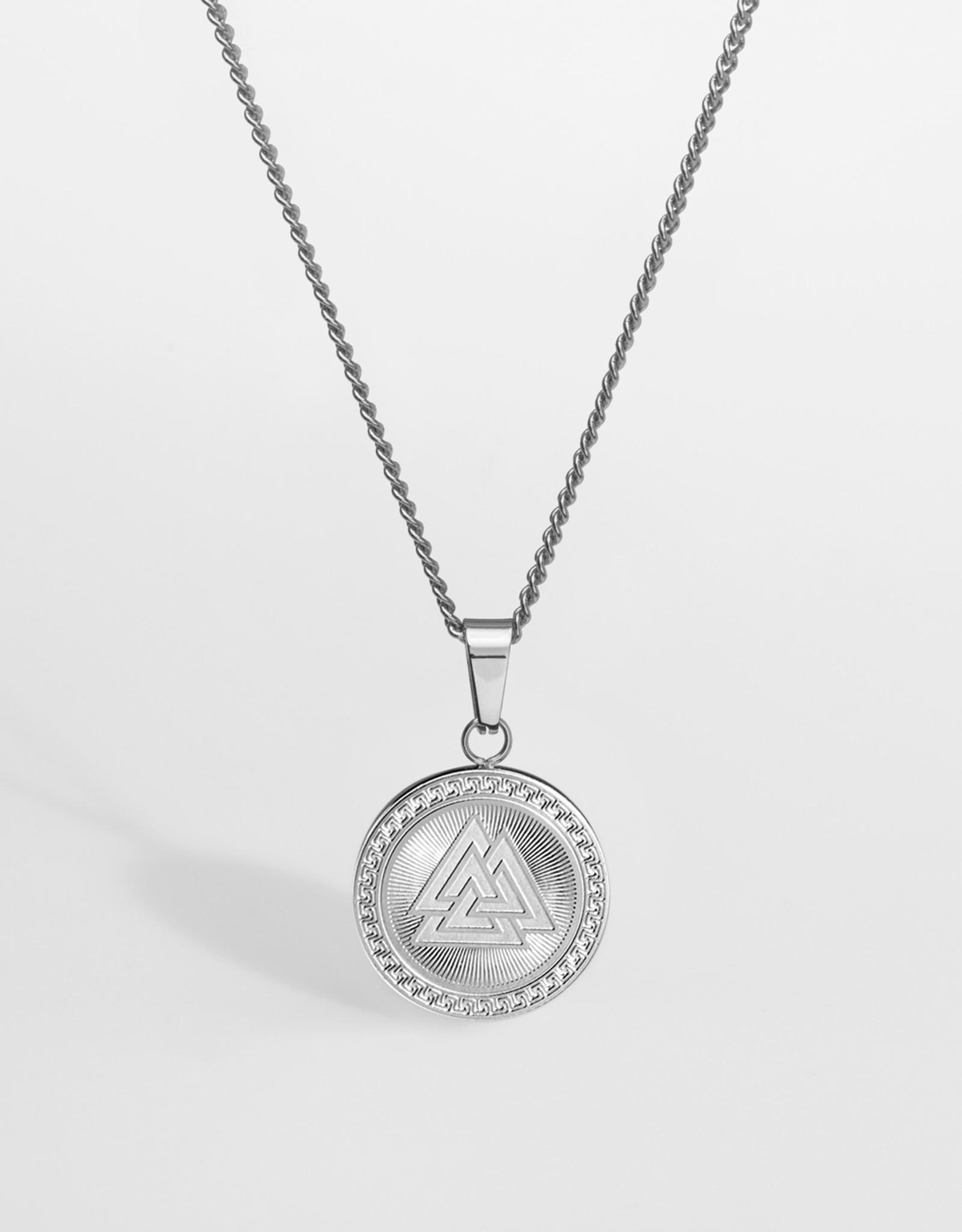 Northern Legacy nl valknut pendant- silver tone