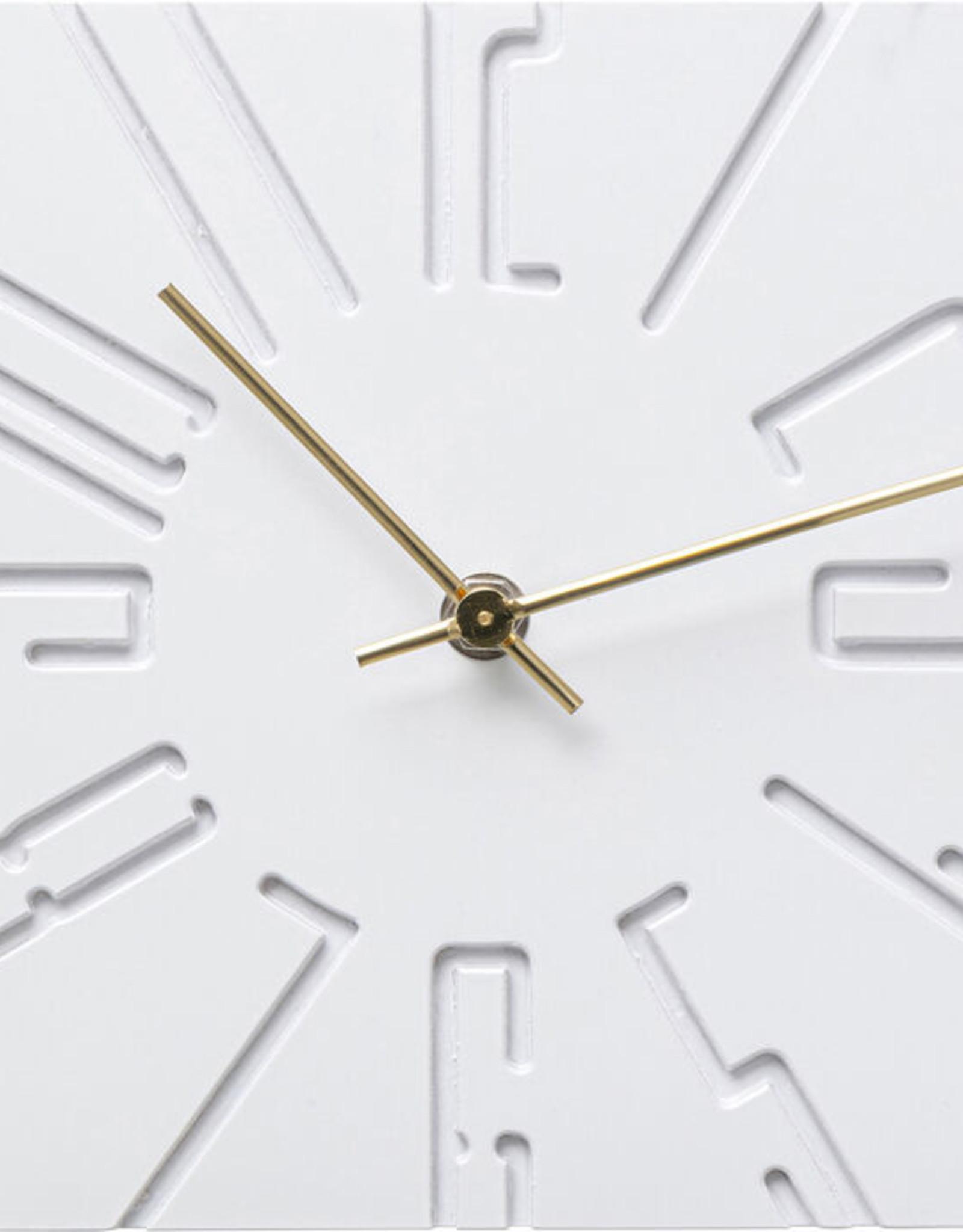Table Clock Cubito White