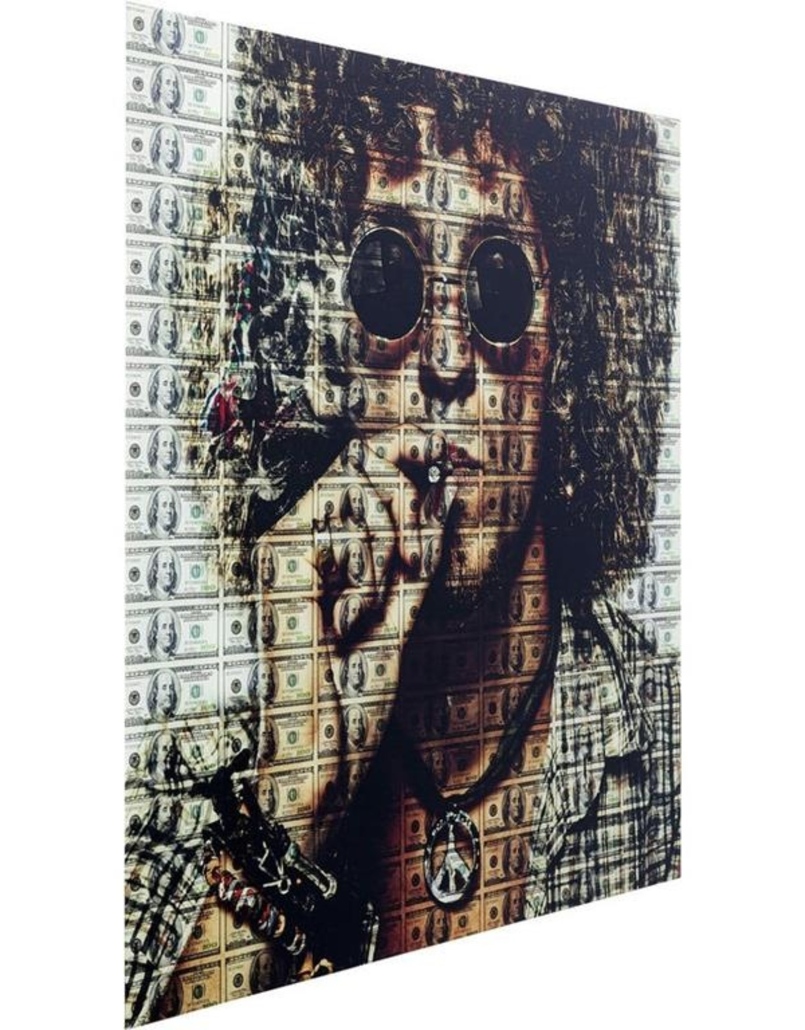 Picture Glass Banknotes 100x100cm