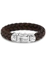 Buddha to Buddha Buddha to Buddha 925 Sterling Zilveren 127BR E+ - Mangky Leather Bracelet Brown