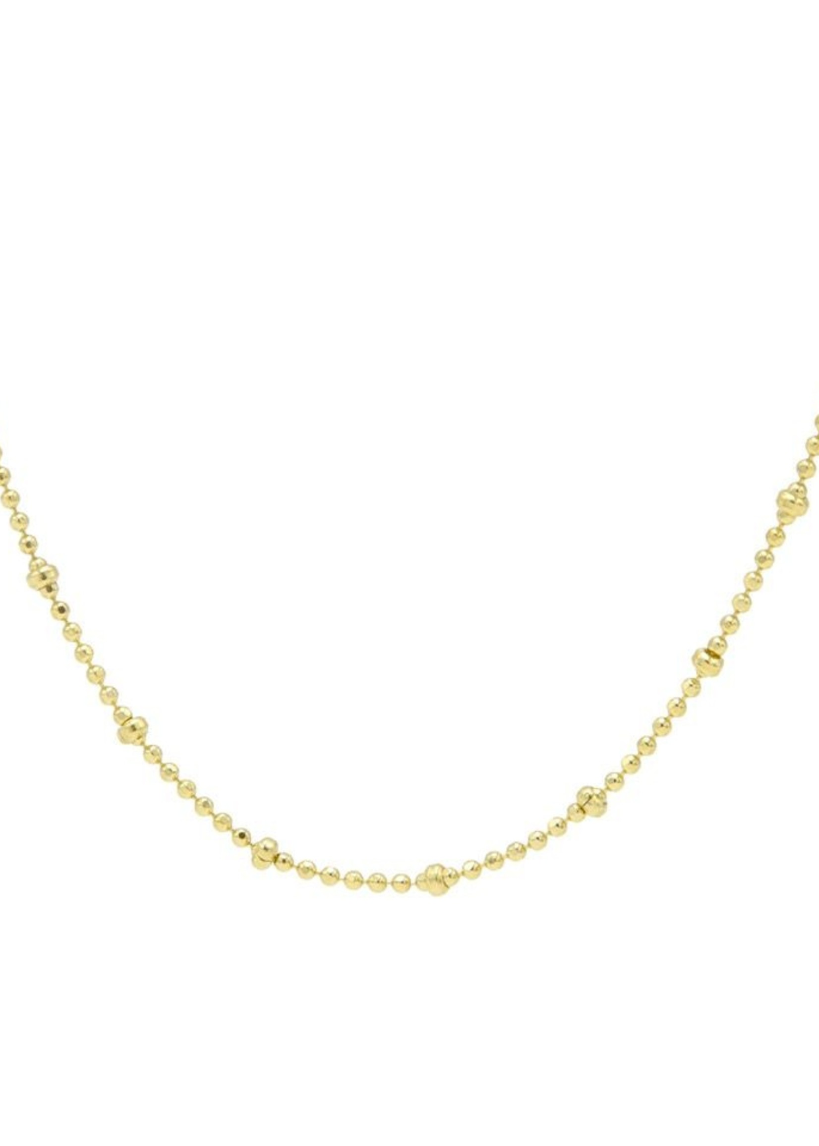 Karma Necklace Dots Chain Diamond Goldplated