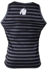 Gorilla Wear Stretch Tank Top - Stripes - Black