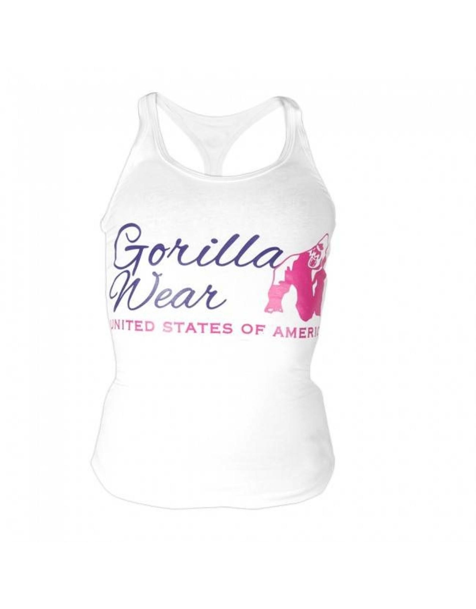 Gorilla Wear Ladies Classic Tank Top - White