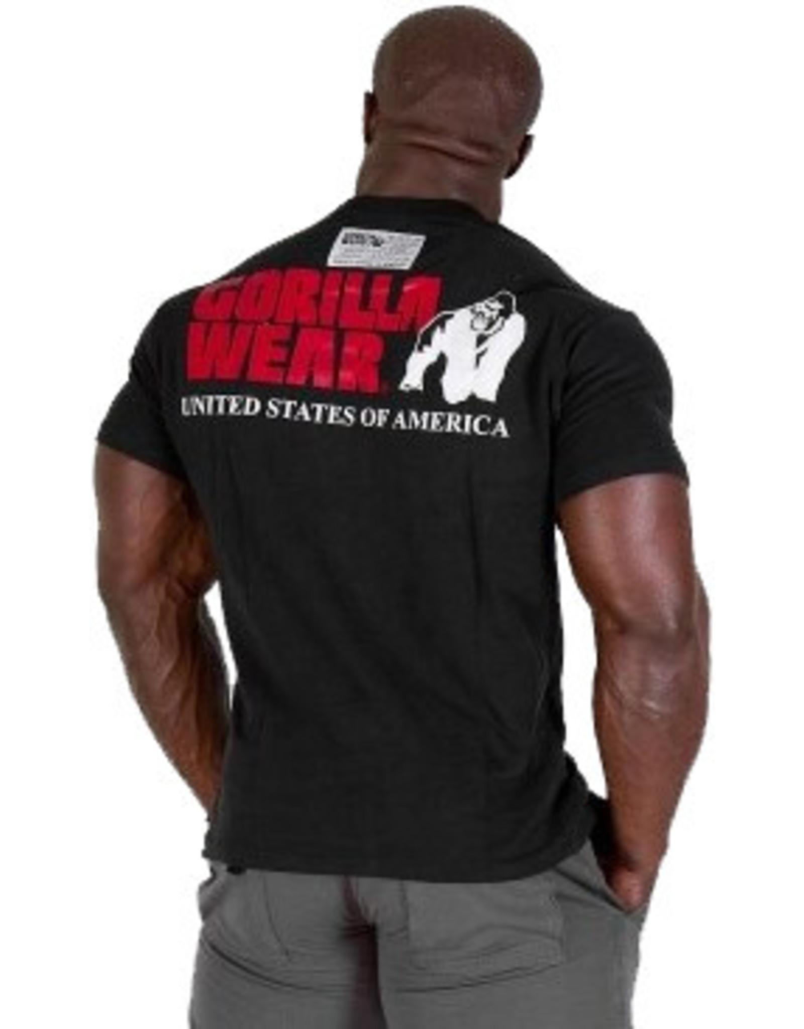 Gorilla Wear Classic Logo Tee New Style - Black