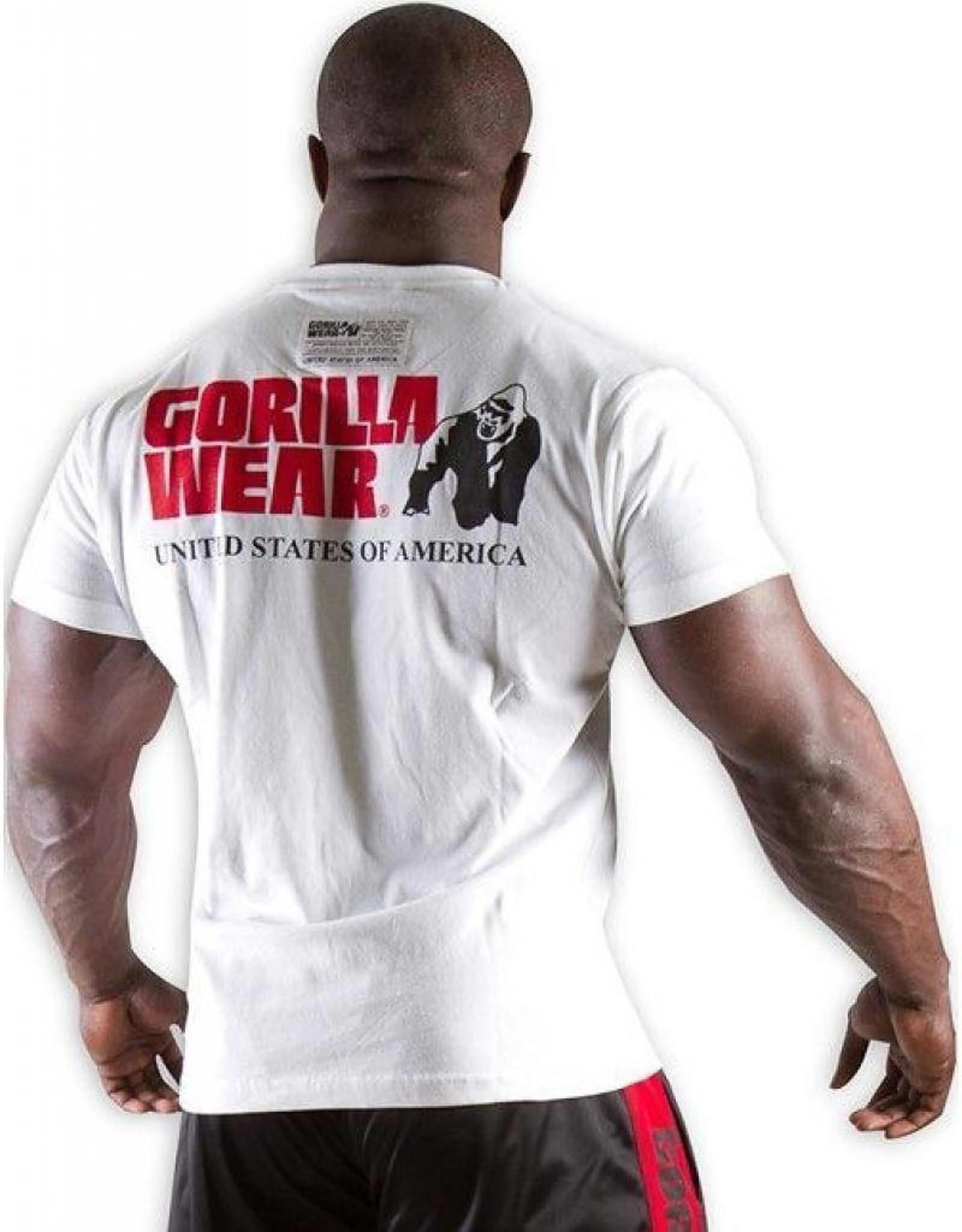 Gorilla Wear Classic Logo Tee New Style - White