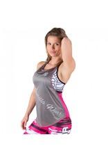 Gorilla Wear Stringer Tank Top - Pink/Grey