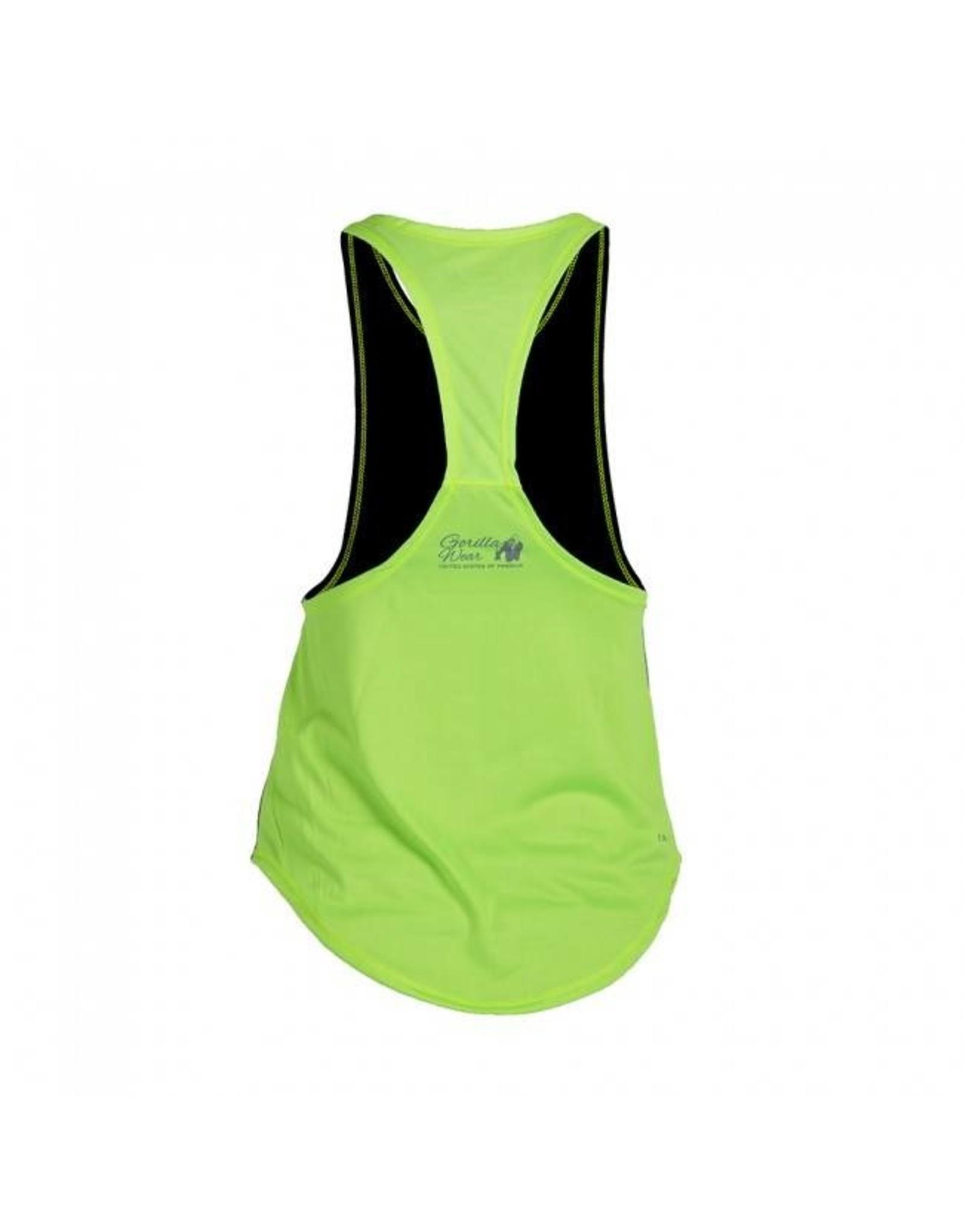 Gorilla Wear Stringer Tank Top - Black/Neon Lime