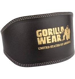 Gorilla Wear Full Leather Padded Lifting Belt