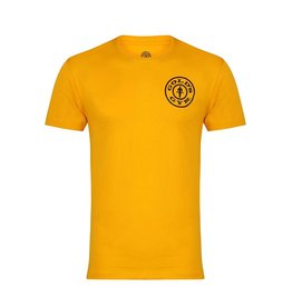 Gold's Gym Basic T-shirt with Chest Logo - Gold