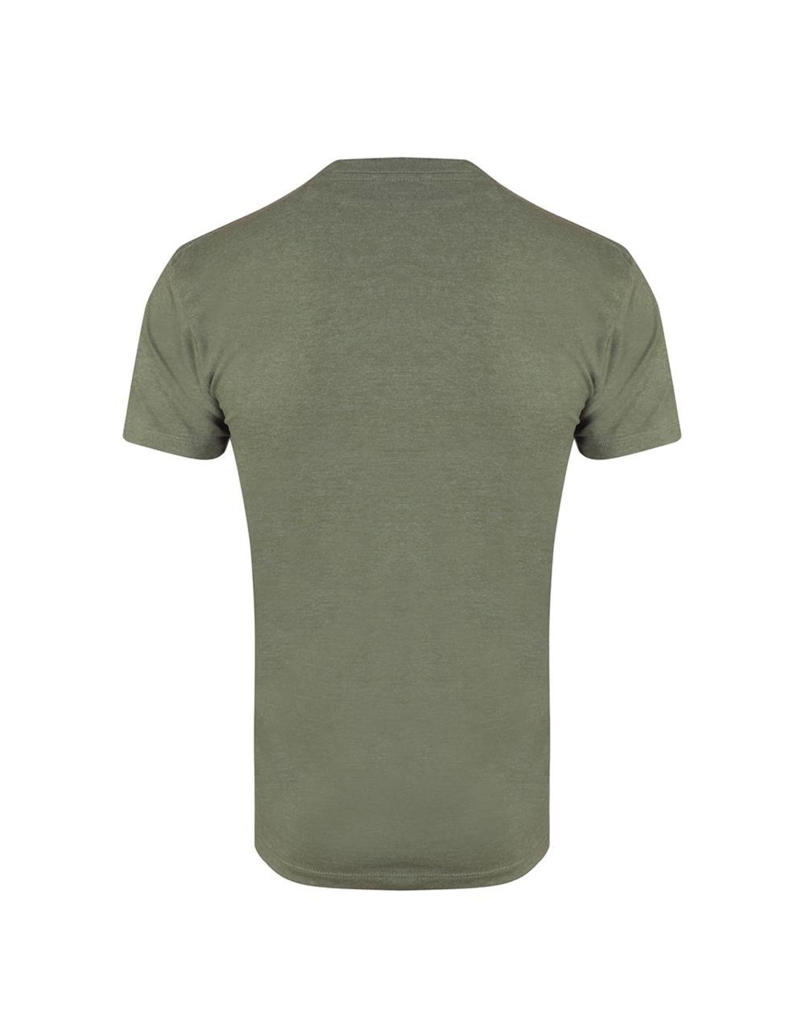 Gold's Gym Crew Neck T-shirt with Large Muscle Joe Print - Army