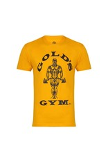 Gold's Gym Crew Neck T-shirt with Large Muscle Joe Print - Gold