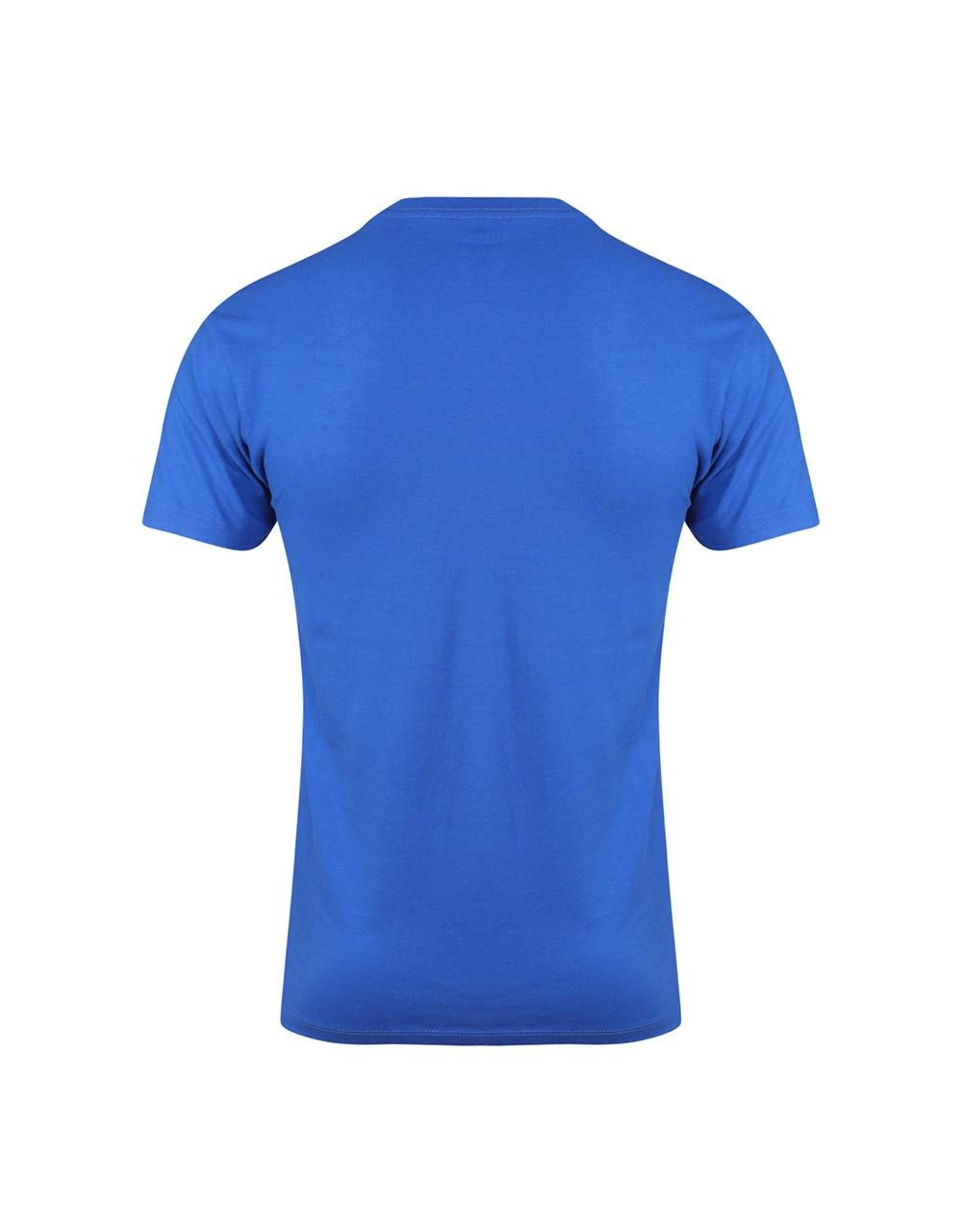 Gold's Gym Crew Neck T-shirt with Large Muscle Joe Print - Royal