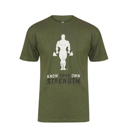Gold's Gym Slogan T-shirt Stronger Than Yesterday - Army Marl