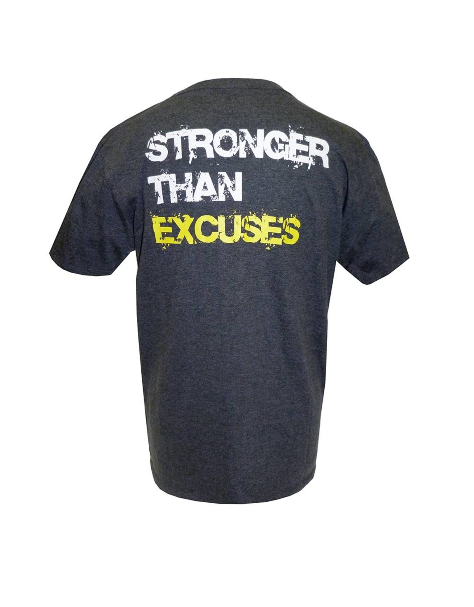 Gold's Gym Slogan T-shirt Stronger Than Excuses - Grey
